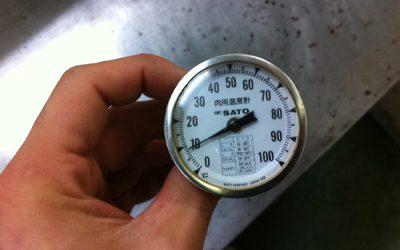 お肉の温度計